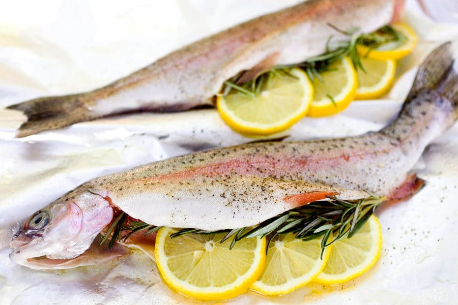 Enjoy fresh trout!