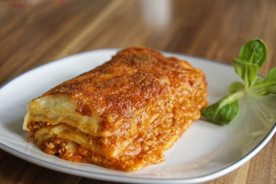Gluten Free lasagne – New in our menu
